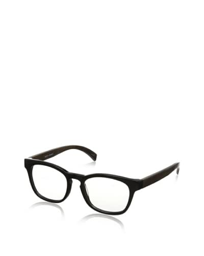 Ivory + Mason Men's Bond Eyeglasses, Shiny Black/Walnut