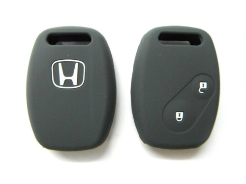 Grey Silicone Protecting Bag Key Case Cover Fob Holder for Honda Accord Fit Civic