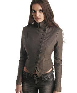 Muubaa Valkyrie Leather Button Blazer Jacket Amazon Co Uk