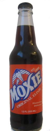 (Super Premium Vintage) Moxie Original Elixir Made with 100% Cane Sugar - 12 Pack