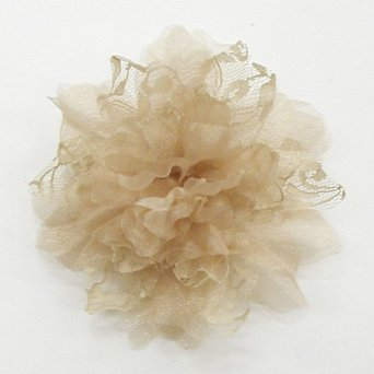 Sweet Kiss lace organza corsage (Beige) graduation ceremony at entrance ceremony in neat and clean and nice