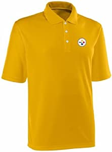 Pittsburgh Steelers NFL Team Apparel Dri Fit Polo Golf Shirt Gold (3X-Large)