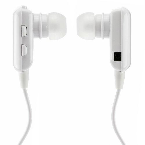 deleyCON Bluetooth In Ear Headset Kopfhörer Ohrhörer - [Weiß] - Stereo - für Handy, PC, Tablet, iPhone, Smartphone, Apple Mac
