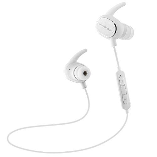 SoundPEATS(サウンドピーツ) Bluetooth イヤホン 【メーカー直販/1年保証付】 イヤホン 高音質 防水 防滴 ランニング中でも耳から外れにくい ワイヤレス ヘッドホン Bluetooth 4.1 apt-Xコーデック採用 ハンズフリー通話 CVC6.0 ノイズキャンセリング搭載 ワイヤレス イヤホン Q15 ホワイト