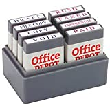 Office Depot(R) Brand Mini Message Stamp Kit, Blue/Red Ink
