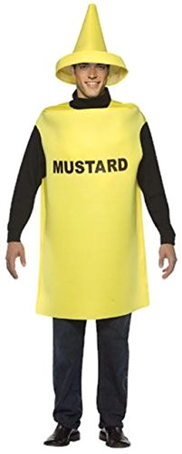 Ketchup and Mustard Bottle Adult Couples Costumes Style:Mustard