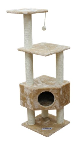 Kitty Mansions Houston Cat Tree, Beige Kitty Mansions B0030FNU8G