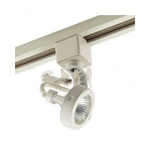 elco lighting et926w track 22 mr16 gimbal ring fixture track lighting