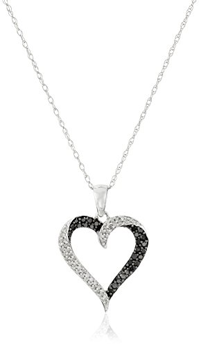 10K-White-Gold-Diamond-Heart-Pendant-Necklace-18-Inch-13-cttw