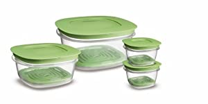 Rubbermaid 7J93 Produce Saver Square Food Storage Containers Set of 8
