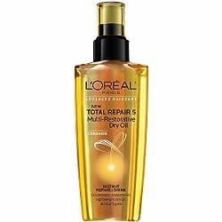 LOreal Paris Ceramide Total Repair 5 Multi-Restorative Dry Oil, 3.4 fl oz (Pack of 2)