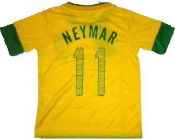 BRAZIL BRASIL HOME NEYMAR 11 FOOTBALL SOCCER KIDS JERSEY 8-9 YEARS