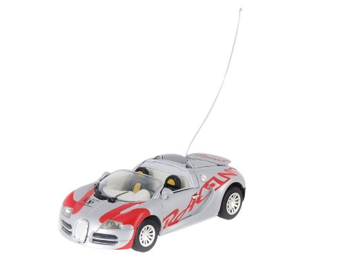 Create Toys 8686 2 Channel RC Race Car with LED Flashing Light (Grey)