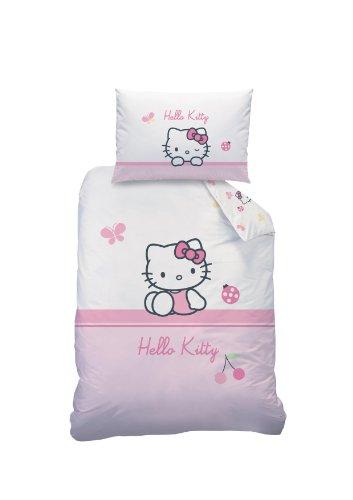 Hello-Kitty-041063-Baby-Bettwsche-Coccinelle-Baumwolle-Linon-100-x-135-40-x-60-cm