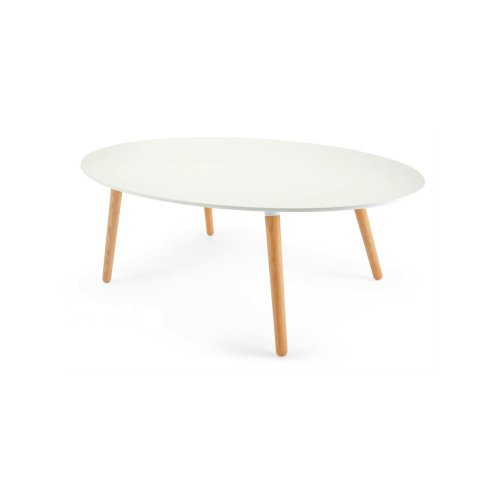 Table basse blanc ovale pas cher - Table basse ovale blanche ...