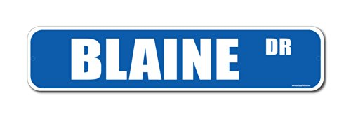Blaine Dr. Street Sign-Personalized Novelty Gift Blue - 1