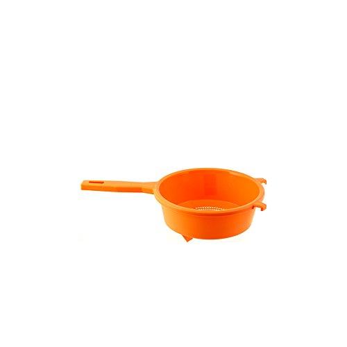 Home Colariso con Manico, 21 cm, Plastica, Arancione