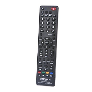 Zcl Chunghop E-T919 Universal Remote Controller For Toshiba Lcd / Led / Hdtv (Black)