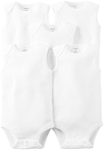 Carter's Unisex Baby White Multi-Pack Bodysuits 126g386, 3 Months