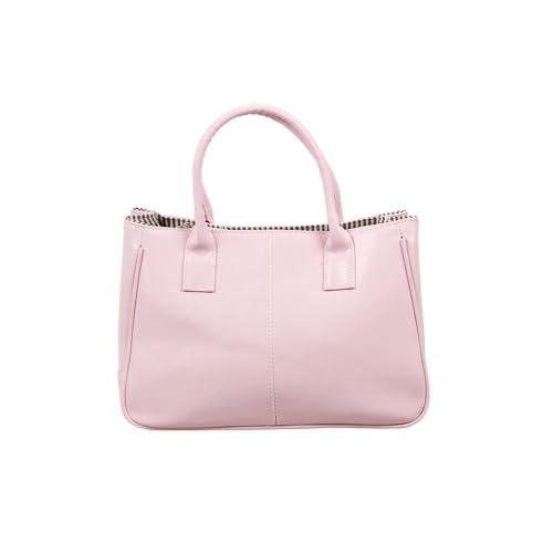 Bundle Monster Womens PU Faux Leather Lady Tote Shoulder Handbag Purse Bag