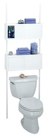 Zenith Products 3772W Double Cabinet Space Saver Over-The-Toilet Shelving System, White front-550758