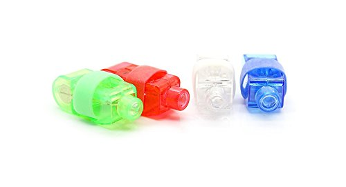 Magic Colorful Led Finger Ring Laser Lights (4-Piece Pack)-Assorted, 4-Piece Pack - (Premium Quality)