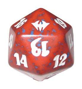 MTG Spindown D20 Life Counter - Dark Ascension Red