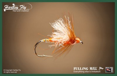 FM880-S12 Fulling Mill Trout Fliegenfischen Fliegen Aero Bits Orange Size 12