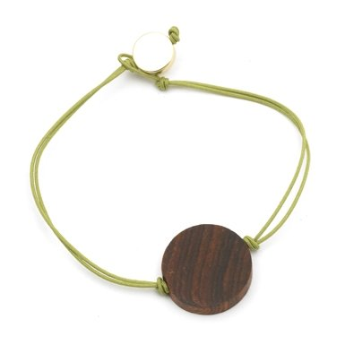 Wooden Bead Bracelet by Helena Rohner For Men (Khaki)||RF10F
