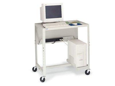 Buy Low Price Comfortable New Bretford Sit Stand Computer Workstation CPU Holder Cord Management Bin Modesty Panel Grey (B0047633PM)