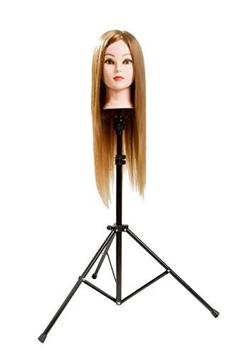 Metal Adjustable Tripod Stand Holder for Hairdressing Training Head Mannequin Head with Carry Bag (Mannequin Stand Tripod compare prices)