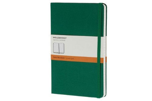 31FflUzGpVL. SL500  Moleskine Classic Notebook, Large, Ruled, Oxide Green, Hard Cover (5 x 8.25) (Classic Notebooks)