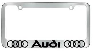 Audi Plate Frame >> Audi License Plate Frame With Logo Chrome Homonononaoeraera