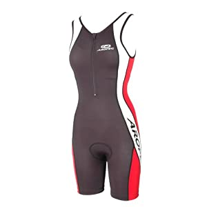 TRIATHLON ONE PIECE SUIT WOMEN[Black/Red,S]