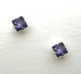 Lj Designs Stunning Tanzanite Crystal Earrings (E37) - Swarovski Crystal - Gold Or Silver Finish