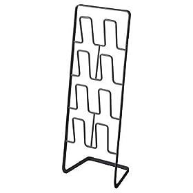 【クリックでお店のこの商品のページへ】山崎実業 アーバン スリッパラック ブラック SL-M BK: ホーム&キッチン