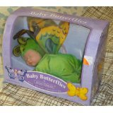 Anne Geddes Baby Butterflies Green Bean Filled Collection Doll by Mattel