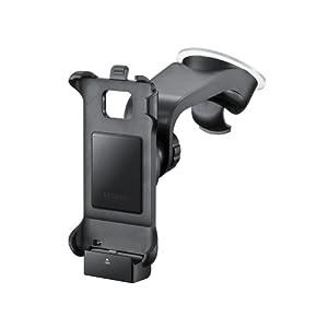 Samsung Original KFZ-Halterung inkl. Ladegerät/Gerätehalter und Saugfuß ECS-V1A2BEGSTD (kompatibel mit Galaxy S2) in schwarz