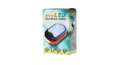 24+3 Led 2-Mode Working Light With Hook-24+3 Led, Blue - (Premium Quality)