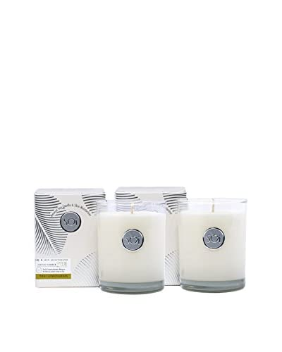 The Soi Co. Set of 2 Luxe Box Moisturizing 13.5-Oz. Candles, Thai Lemongrass