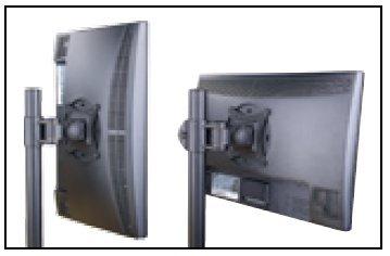 Supporto da scrivania per 2 Monitor 13-27' con morsetto