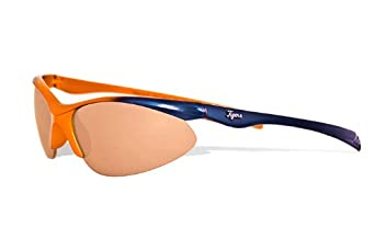 MLB Detroit Tigers Rookie Sunglasses with Bag, Navy and Orange, Child by Maxx