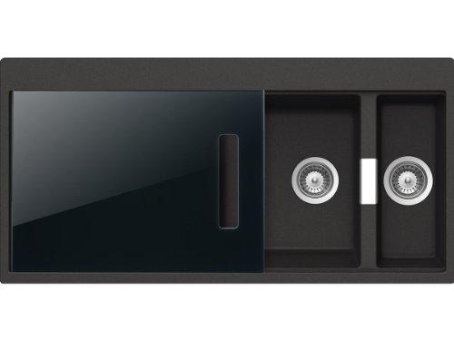 Schock Horizont D-150 A S Carbonium Granit Spüle Grau Auflage Einbauspüle Küche