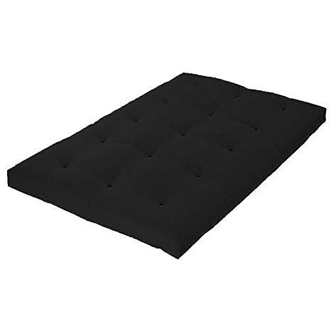 Matelas futon 140x190 gris anthracite - 5 couches de ouate 1300g/m² - Equilibré et ferme