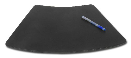 Dacasso Black Leather Conference Table Pad For Round Table, 17 By 14-Inch
