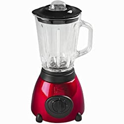 Kalorik 500-Watt 2-Speed Countertop Blender with 50-Oz. Glass Jar, Metallic Red Spray