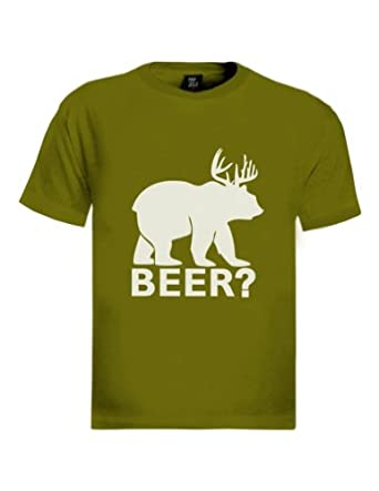 Beer deer bear t shirt clothing for Green turtle t shirts review