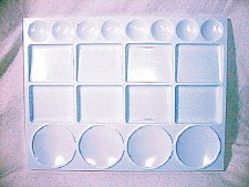 Palette Plastic : large rectangle 13 x 10 in.