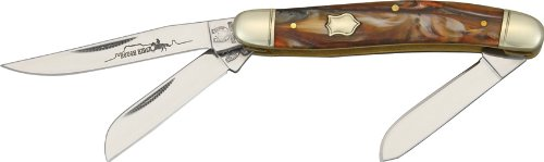 "Rough Rider Knives Stockman Painted Desert 3 1/2"" Closed Pocket Knife"