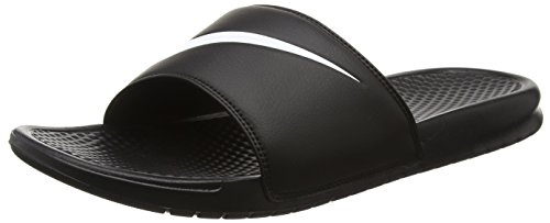 Nike Benassi Swoosh, Ciabatte Uomo, Nero (Black (Black/White 011)Black/White 011), 48.5 EU